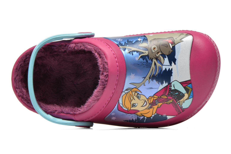 Sandaler Crocs CC Frozen Lined Clog Lilla se fra venstre