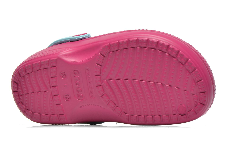 Sandales et nu-pieds Crocs CC Frozen Lined Clog Violet vue haut