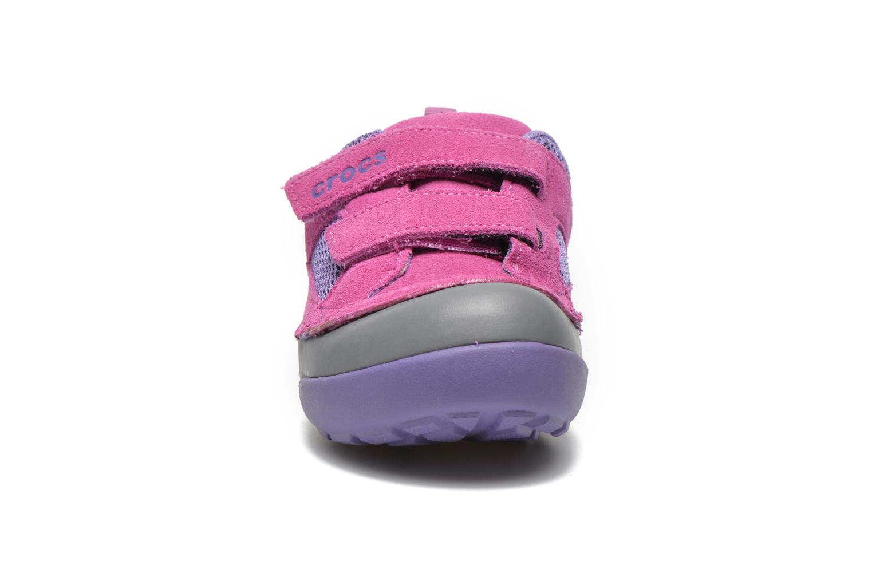 Baskets Crocs Dawson Easy-on Shoe K Rose vue portées chaussures