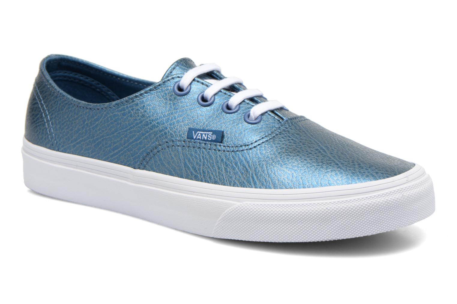 (Metallic Leather) gray Vans Authentic Decon W (Argent)