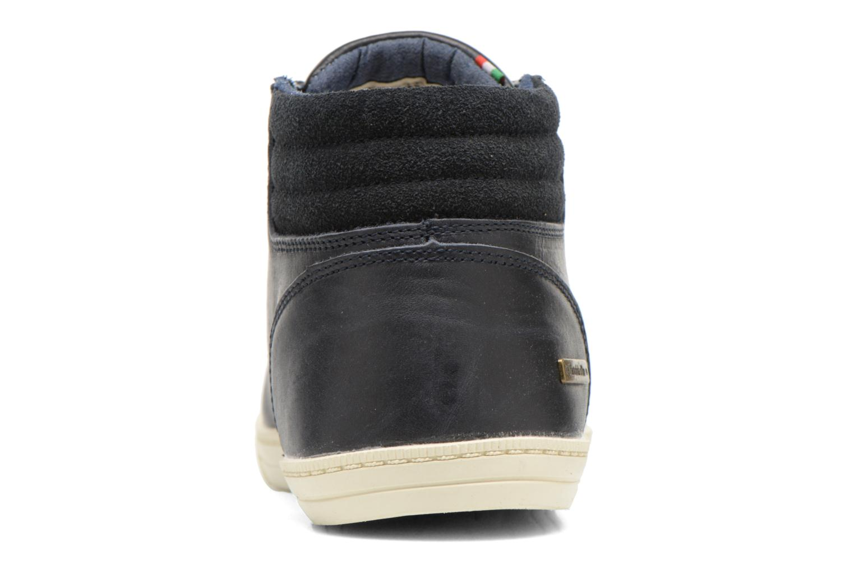 Sneakers Pantofola d'Oro Prato Leather Mid Men Blauw rechts