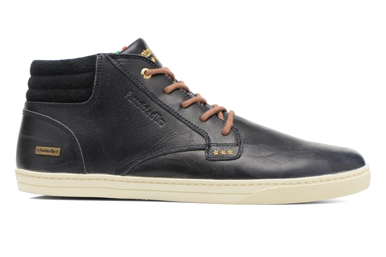 Trainers Pantofola d'Oro Prato Leather Mid Men Blue back view
