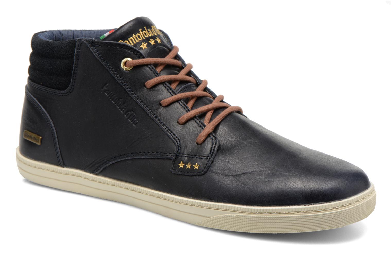 Sneakers Pantofola d'Oro Prato Leather Mid Men Blauw detail