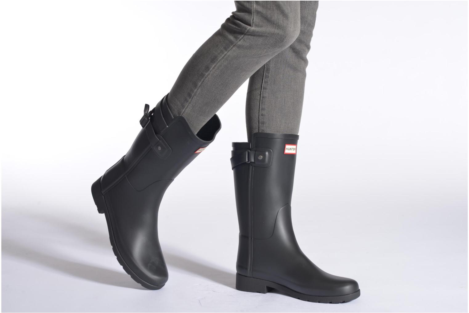Ankle boots Hunter Original refined Back Strap Short Black view from underneath / model view