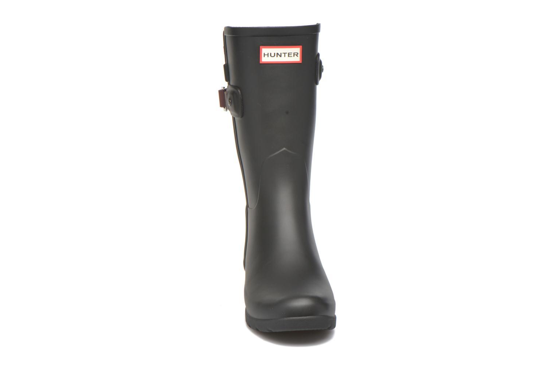 Bottines et boots Hunter Original refined Back Strap Short Noir vue portées chaussures