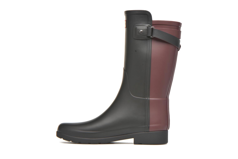 Bottines et boots Hunter Original refined Back Strap Short Noir vue face