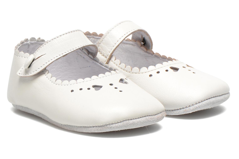 Hjemmesko Start Rite Baby Elizabeth Hvid detaljeret billede af skoene