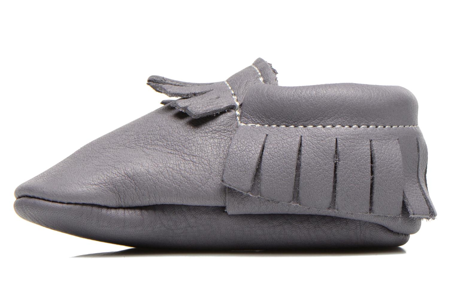 Slippers Hippie Ya Mocassins Requin Grey front view