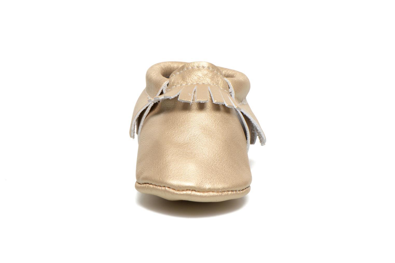 Slippers Hippie Ya Mocassins Platinum Bronze and Gold model view