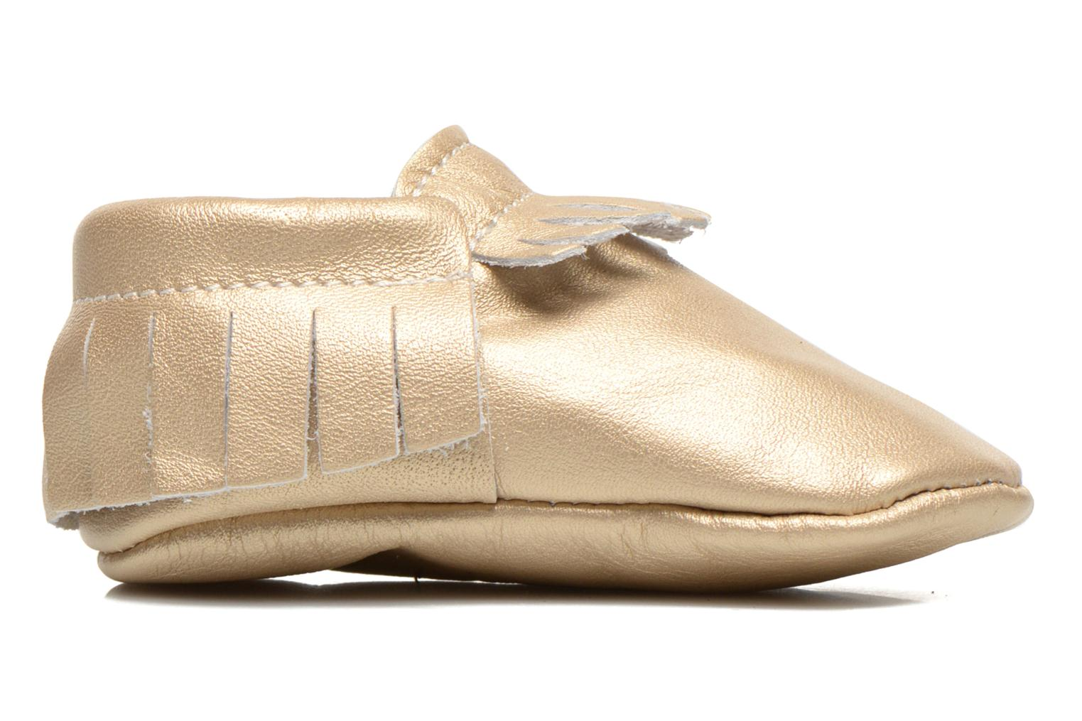 Slippers Hippie Ya Mocassins Platinum Bronze and Gold back view