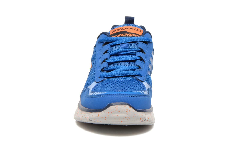 Baskets Skechers Synergy Power Blast Bleu vue portées chaussures