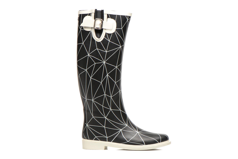 Rain Boot Snow white line on black base