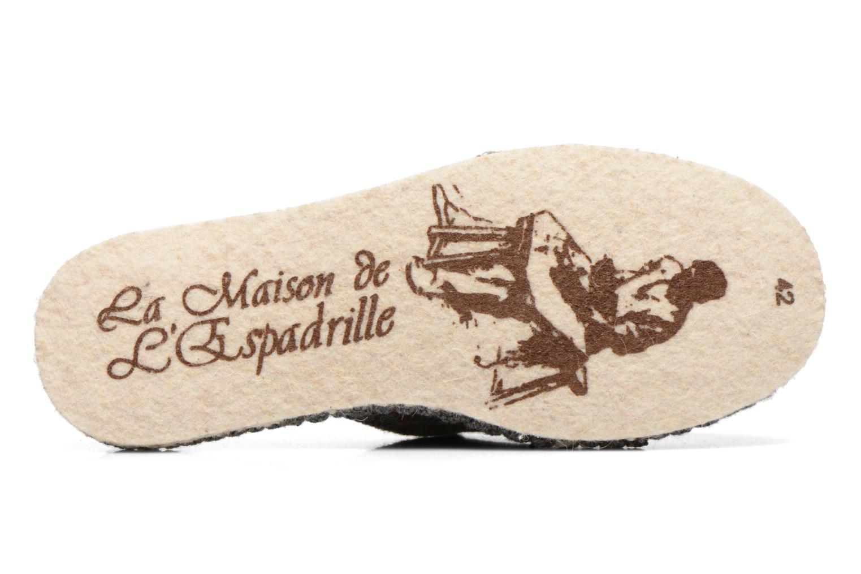 Pantoffels La maison de l'espadrille Maurice 2 Grijs boven