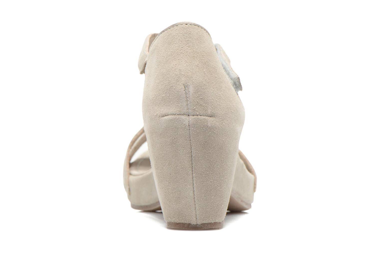 Sandales et nu-pieds Khrio Lola Gris vue droite