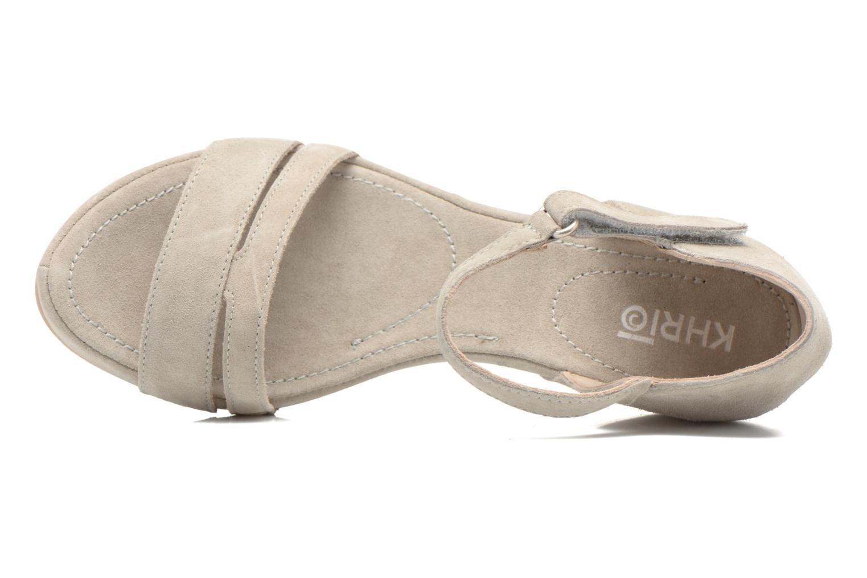 Sandales et nu-pieds Khrio Lola Gris vue gauche