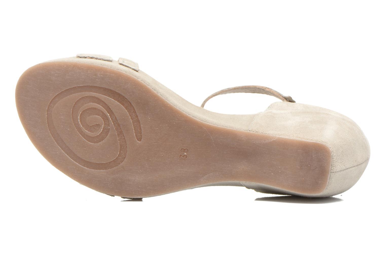 Sandales et nu-pieds Khrio Lola Gris vue haut