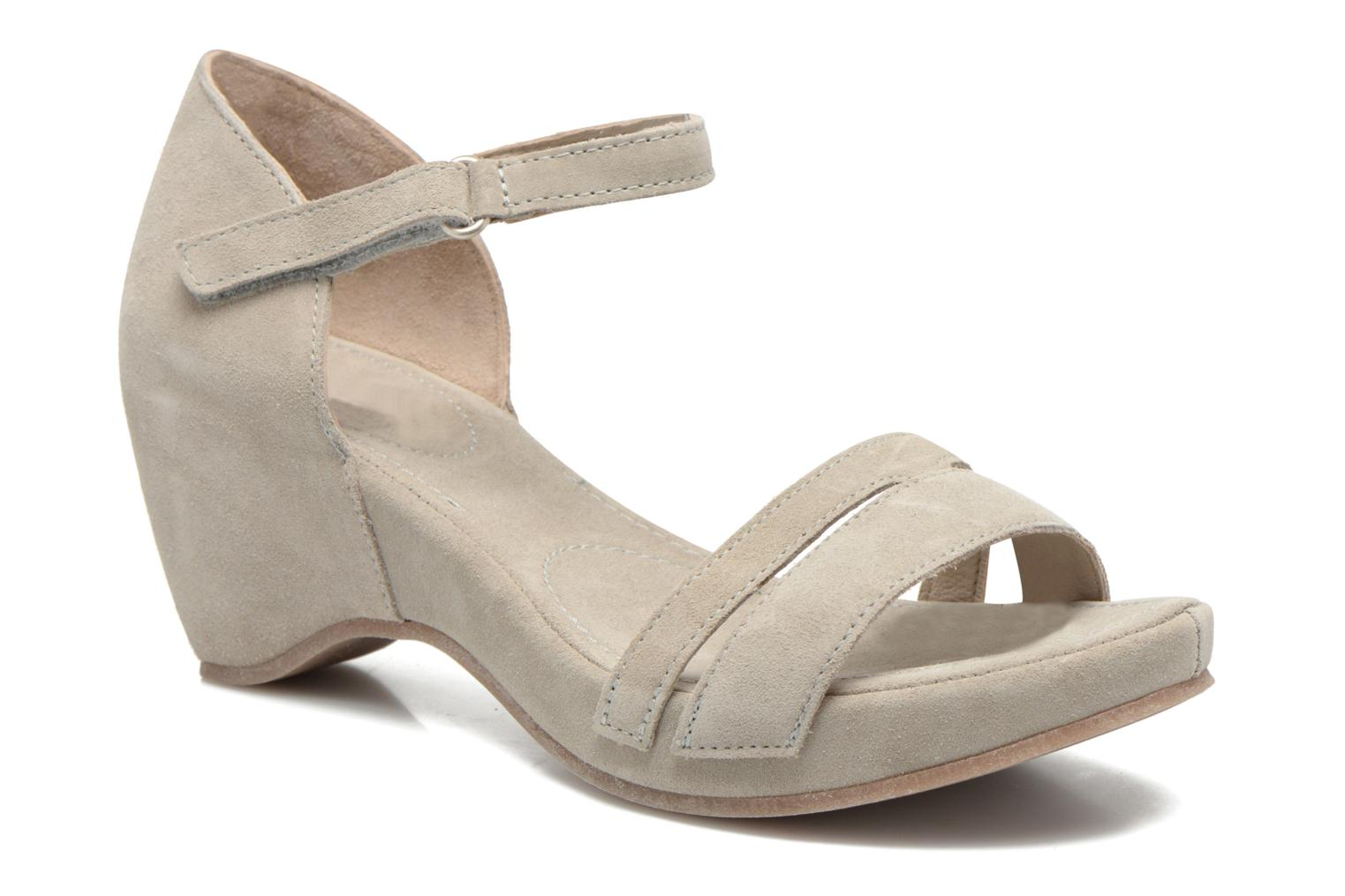 Sandals Khrio Lola Grey detailed view/ Pair view