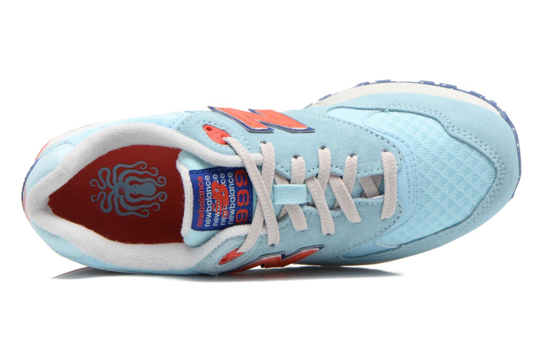 Sneaker New Balance WL999 blau ansicht von links