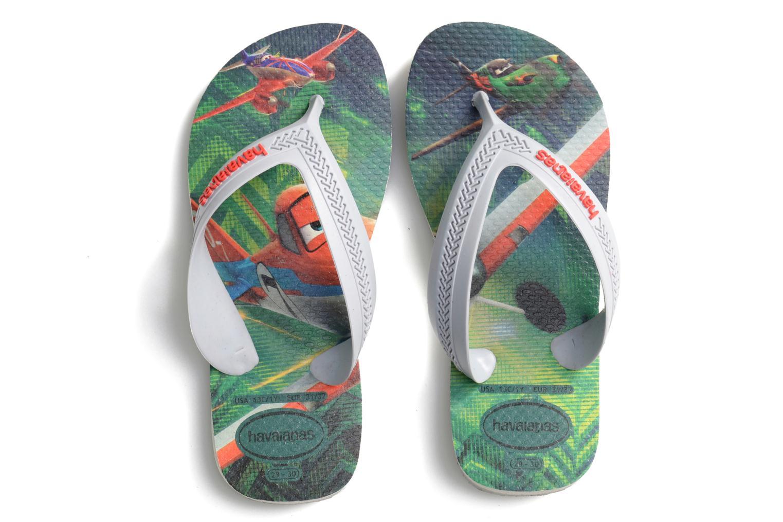 Tongs Havaianas Kids Max Planes Gris vue portées chaussures