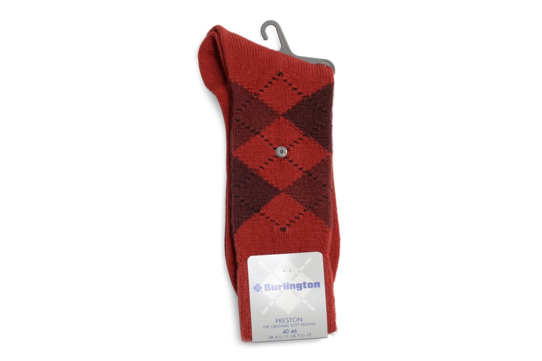 Chaussettes et collants Burlington Chaussettes LOSANGES Rouge vue droite