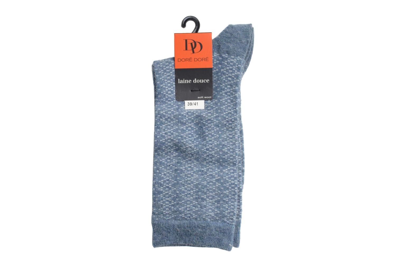 Chaussettes et collants Doré Doré Chaussettes CARESSE Bleu vue droite