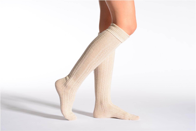 Socks TORSADES 118 - ecru