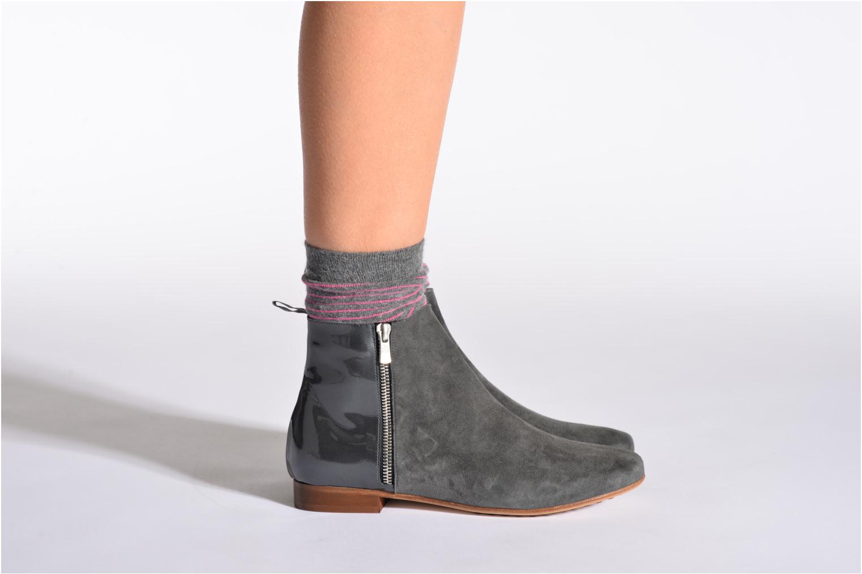 Chaussettes et collants Doré Doré Chaussettes RAYURES TENDRESSES Gris vue portées chaussures