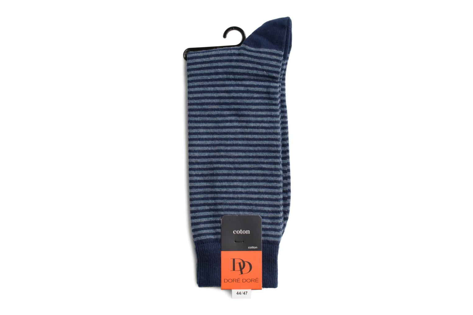 Socks FINE STRIPES 044 - bleu / bleu