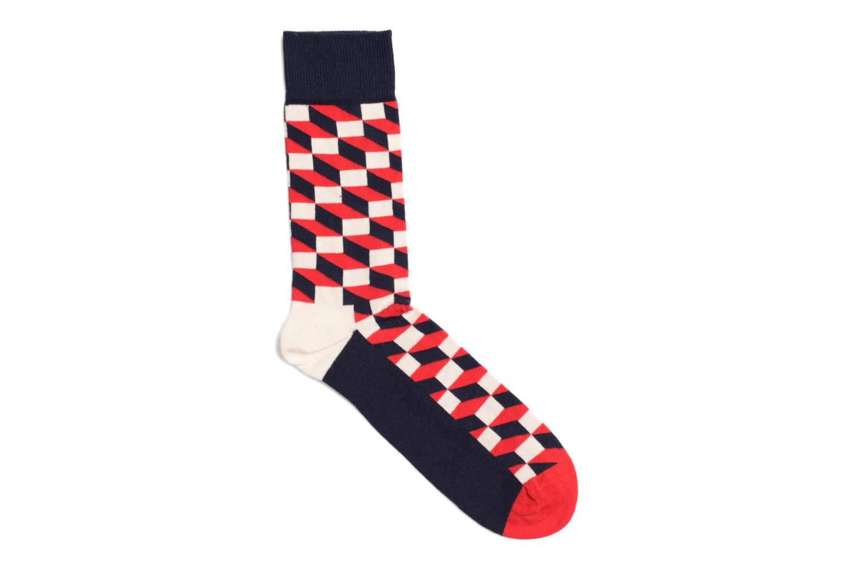 Socks FILLED OPTIC Marine Rouge