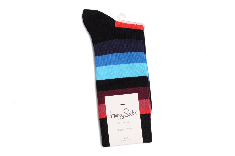 Chaussettes et collants Happy Socks Chaussettes STRIPES Noir vue droite