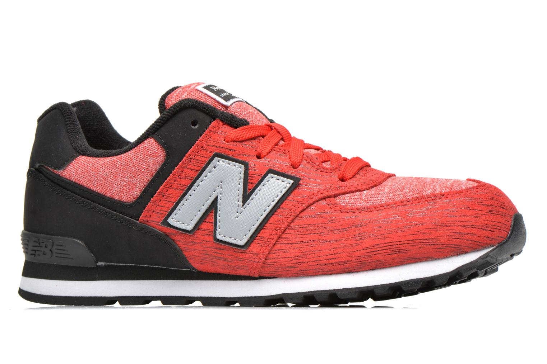 Sneaker New Balance KL574 J rot ansicht von hinten