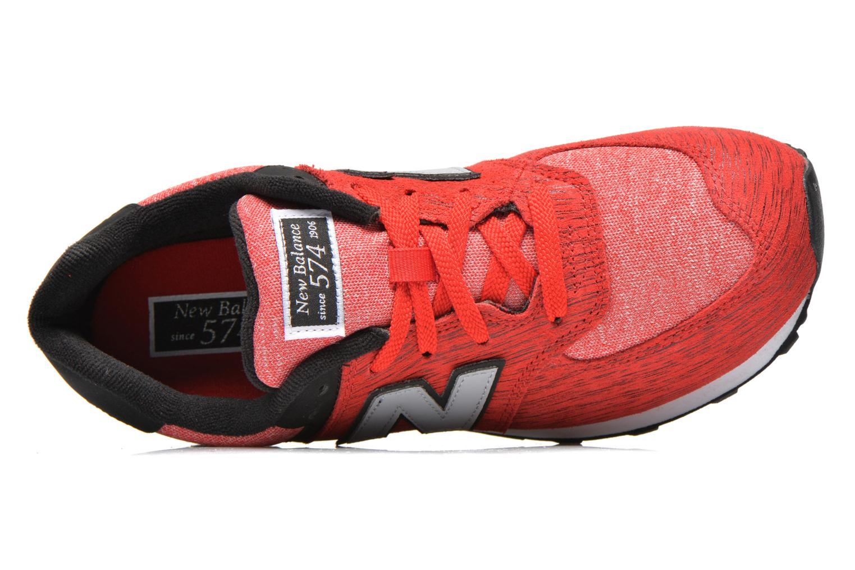 Sneaker New Balance KL574 J rot ansicht von links