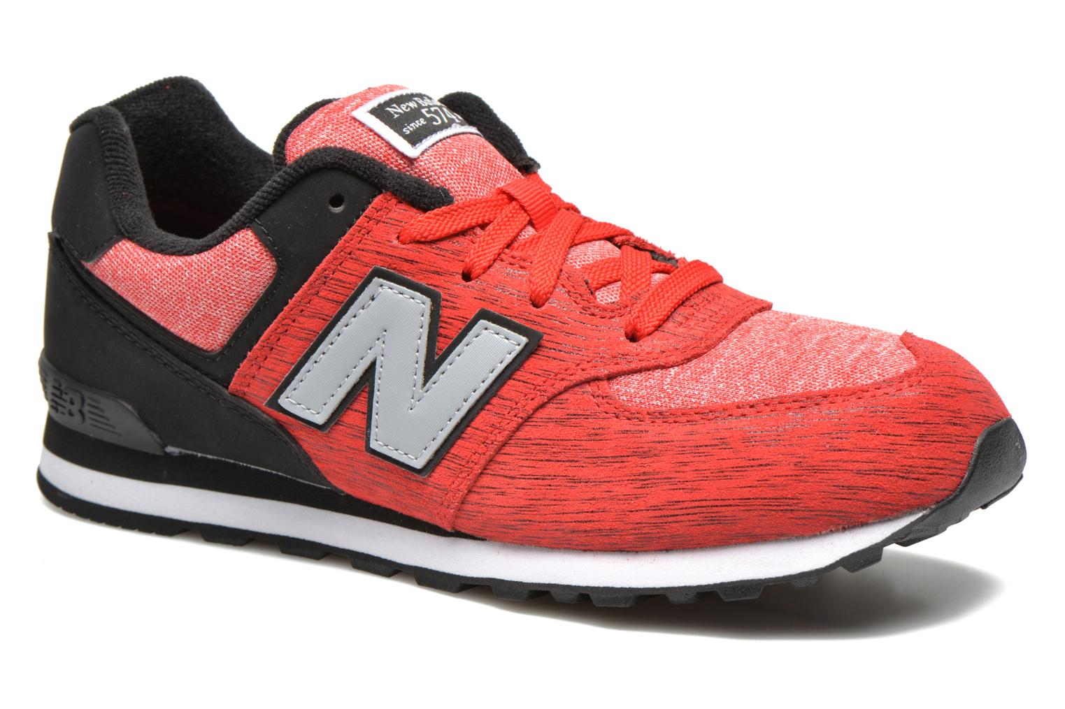 Trainers New Balance KL574 J Red detailed view/ Pair view
