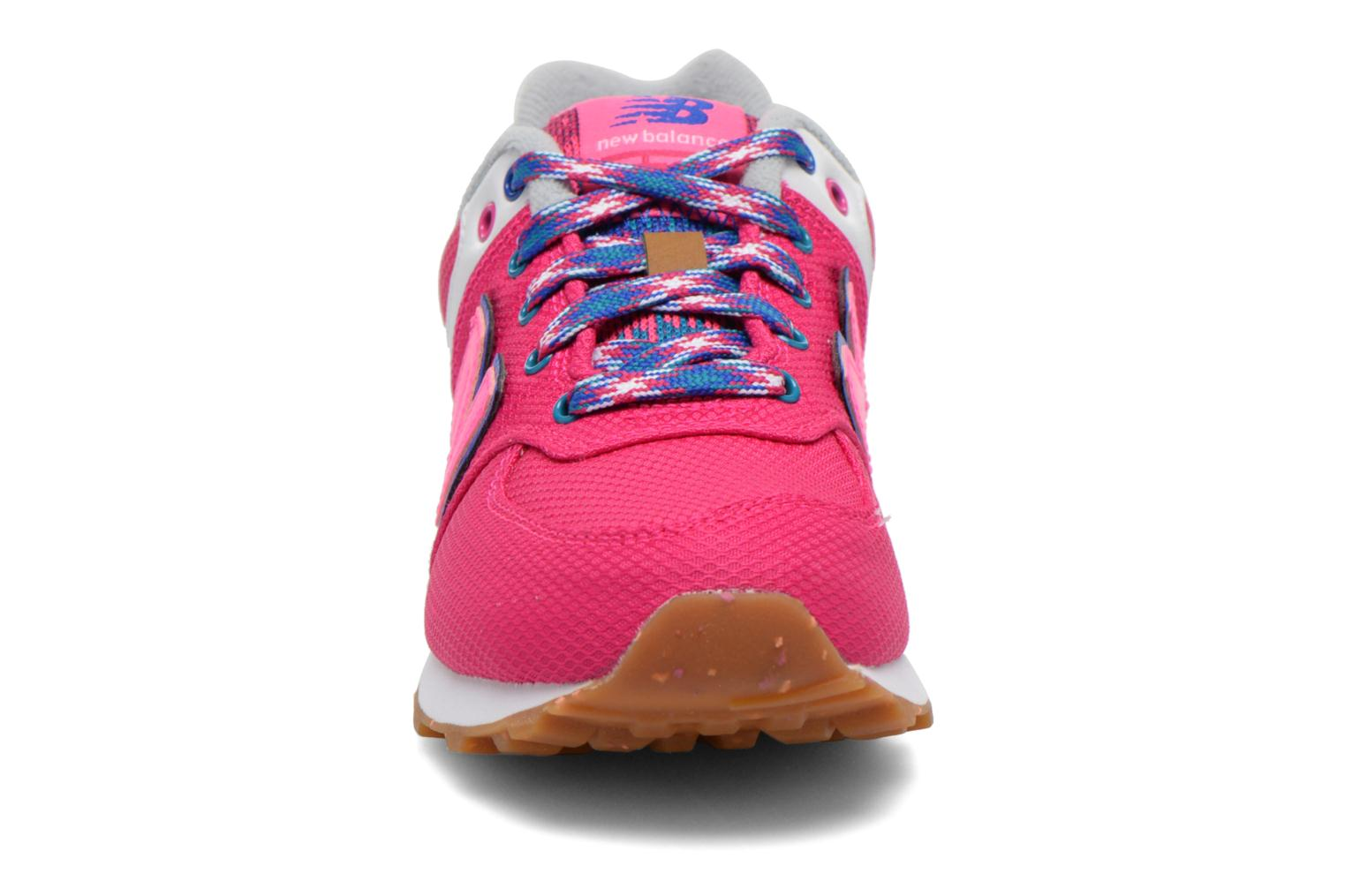 CZP Pink/White New Balance KL574 J (Rose)