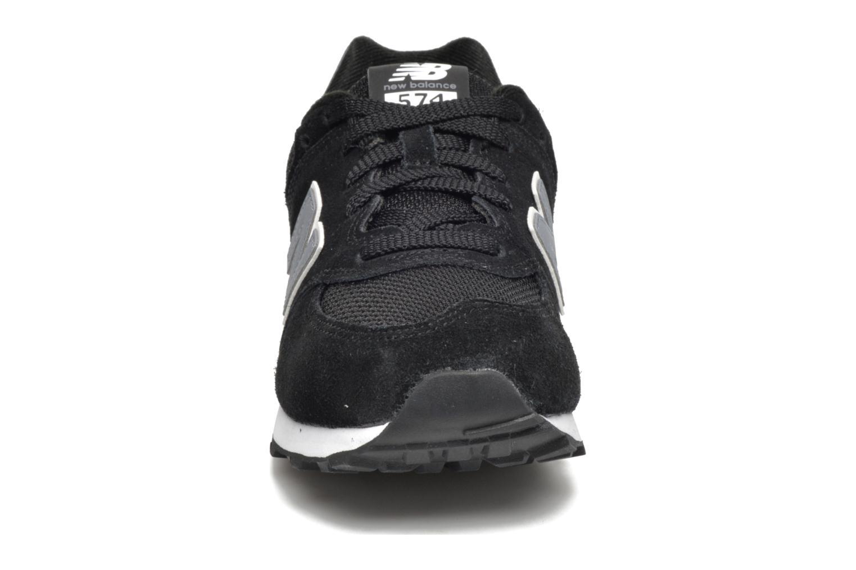 Sneaker New Balance KL574 J schwarz schuhe getragen