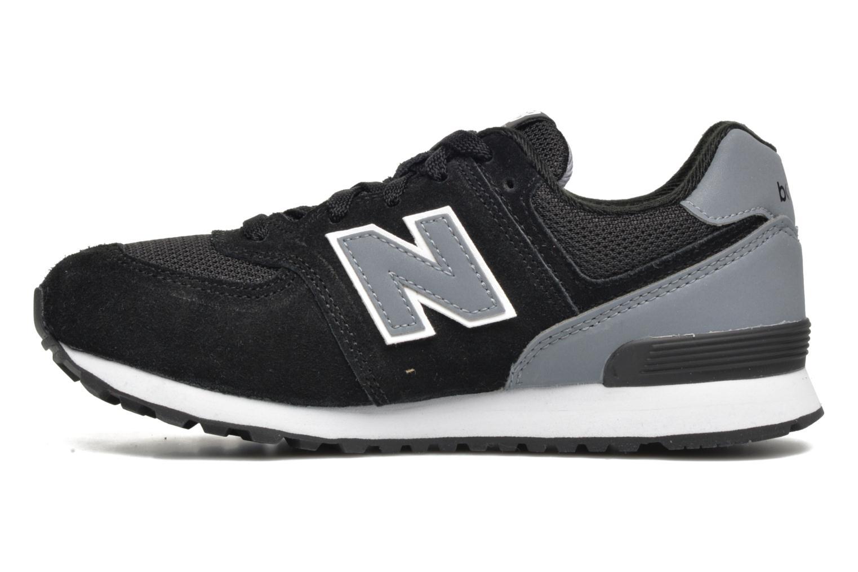 Sneaker New Balance KL574 J schwarz ansicht von vorne
