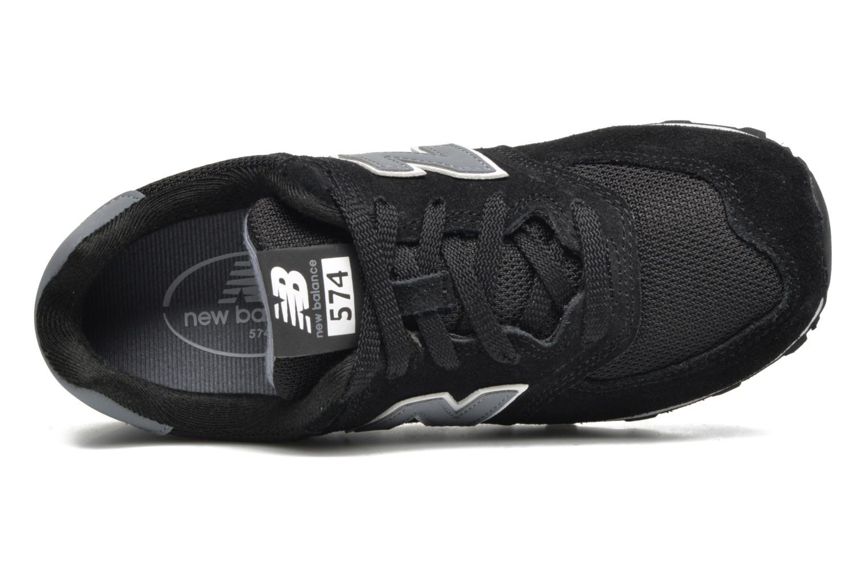 Sneaker New Balance KL574 J schwarz ansicht von links