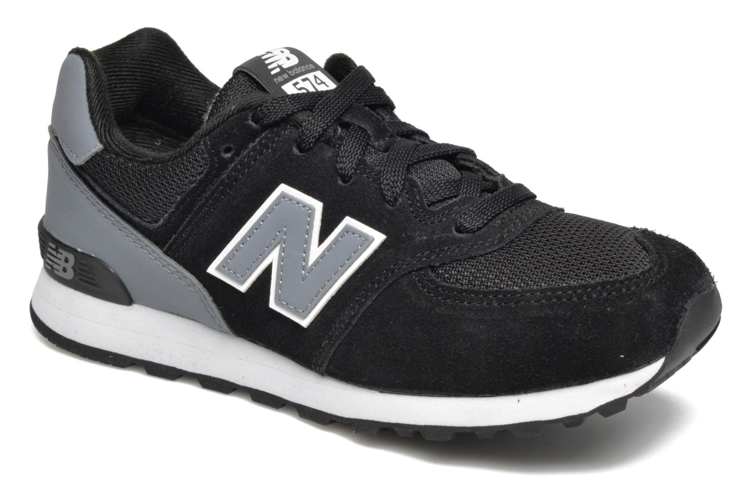 Trainers New Balance KL574 J Black detailed view/ Pair view