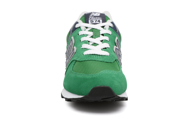Sneaker New Balance KL574 J grün schuhe getragen
