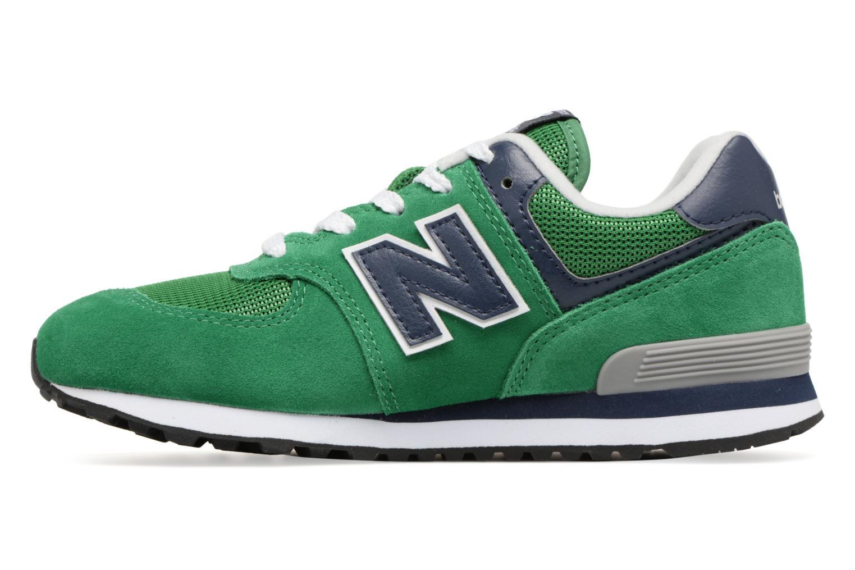 Sneaker New Balance KL574 J grün ansicht von vorne