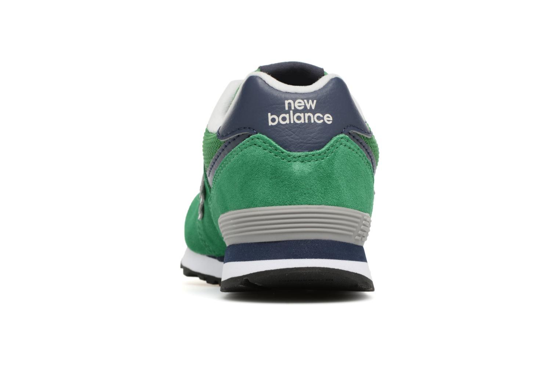 Baskets New Balance KL574 J Vert vue droite