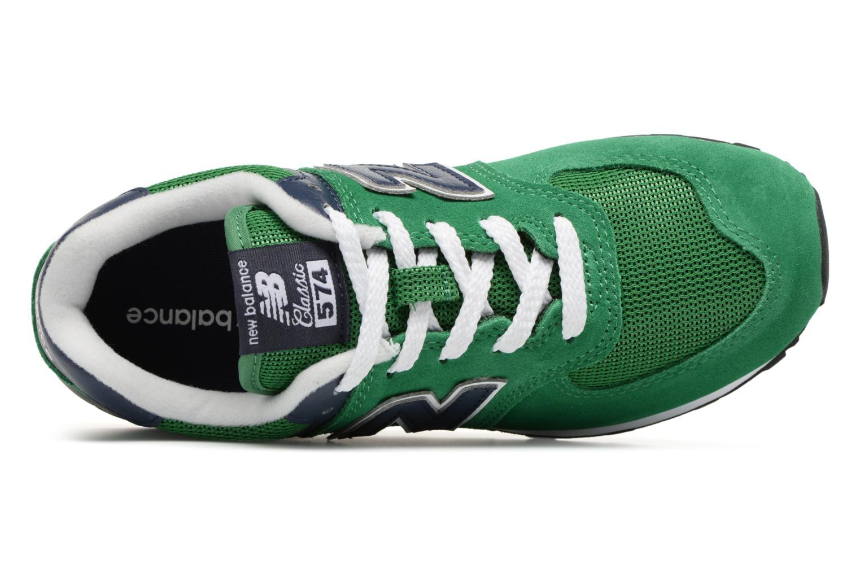 Sneaker New Balance KL574 J grün ansicht von links