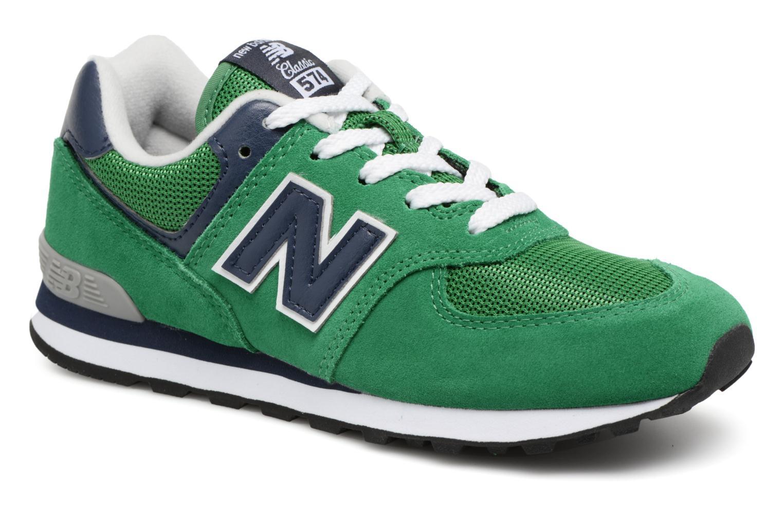 Sneaker New Balance KL574 J grün detaillierte ansicht/modell