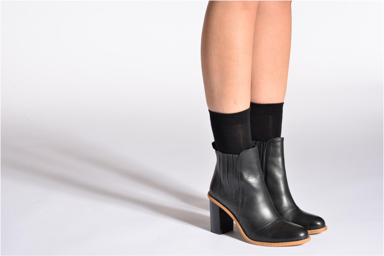 Chaussettes et collants Falke Chaussettes FAMILY Noir vue portées chaussures