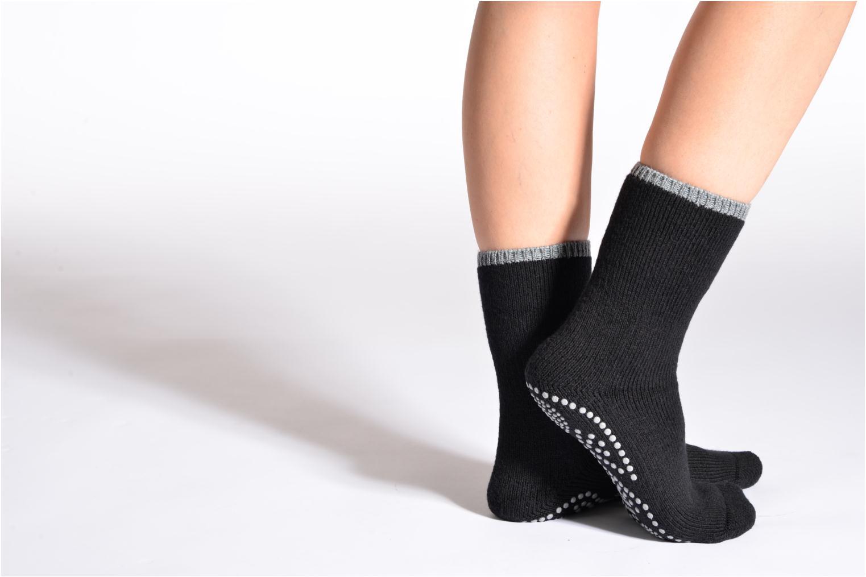 Hjemmesko Falke Chaussons - chaussettes Sort detaljeret billede af skoene