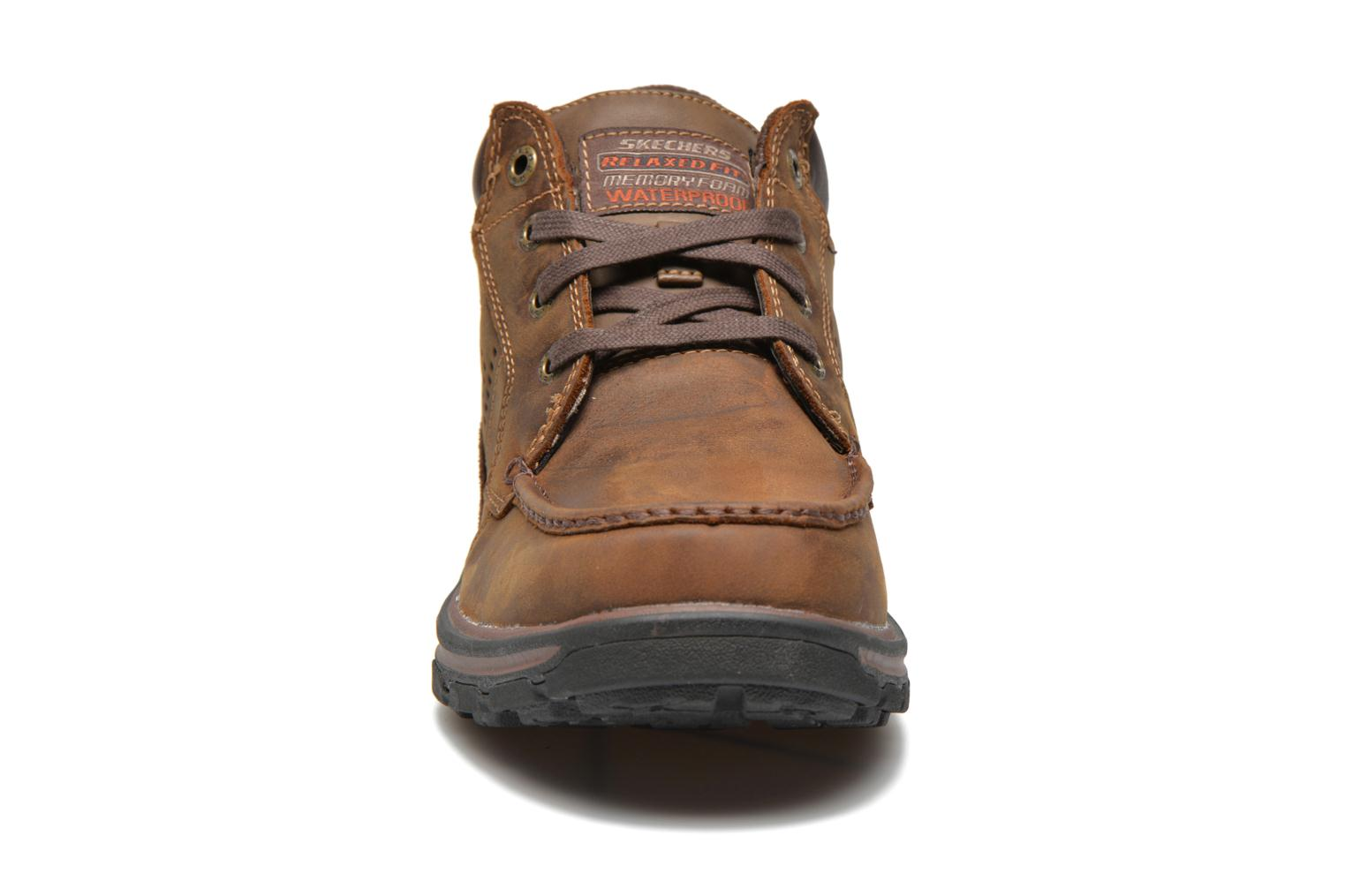 Lace-up shoes Skechers Segment Melego 64522 Brown model view