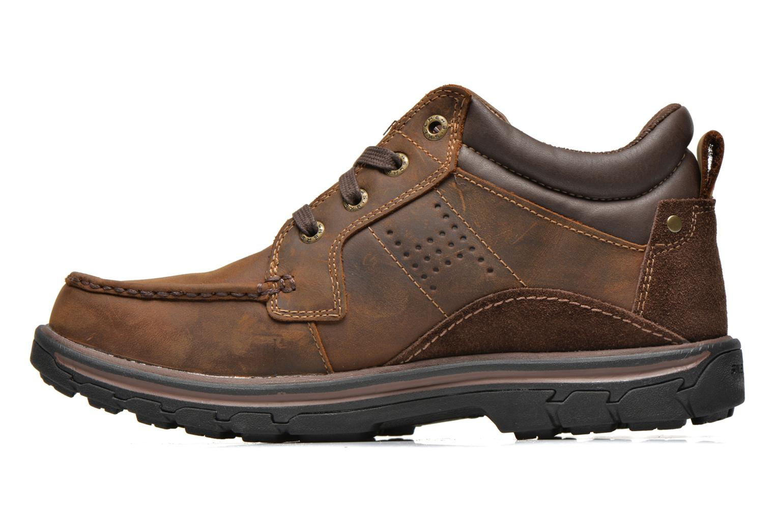 Lace-up shoes Skechers Segment Melego 64522 Brown front view