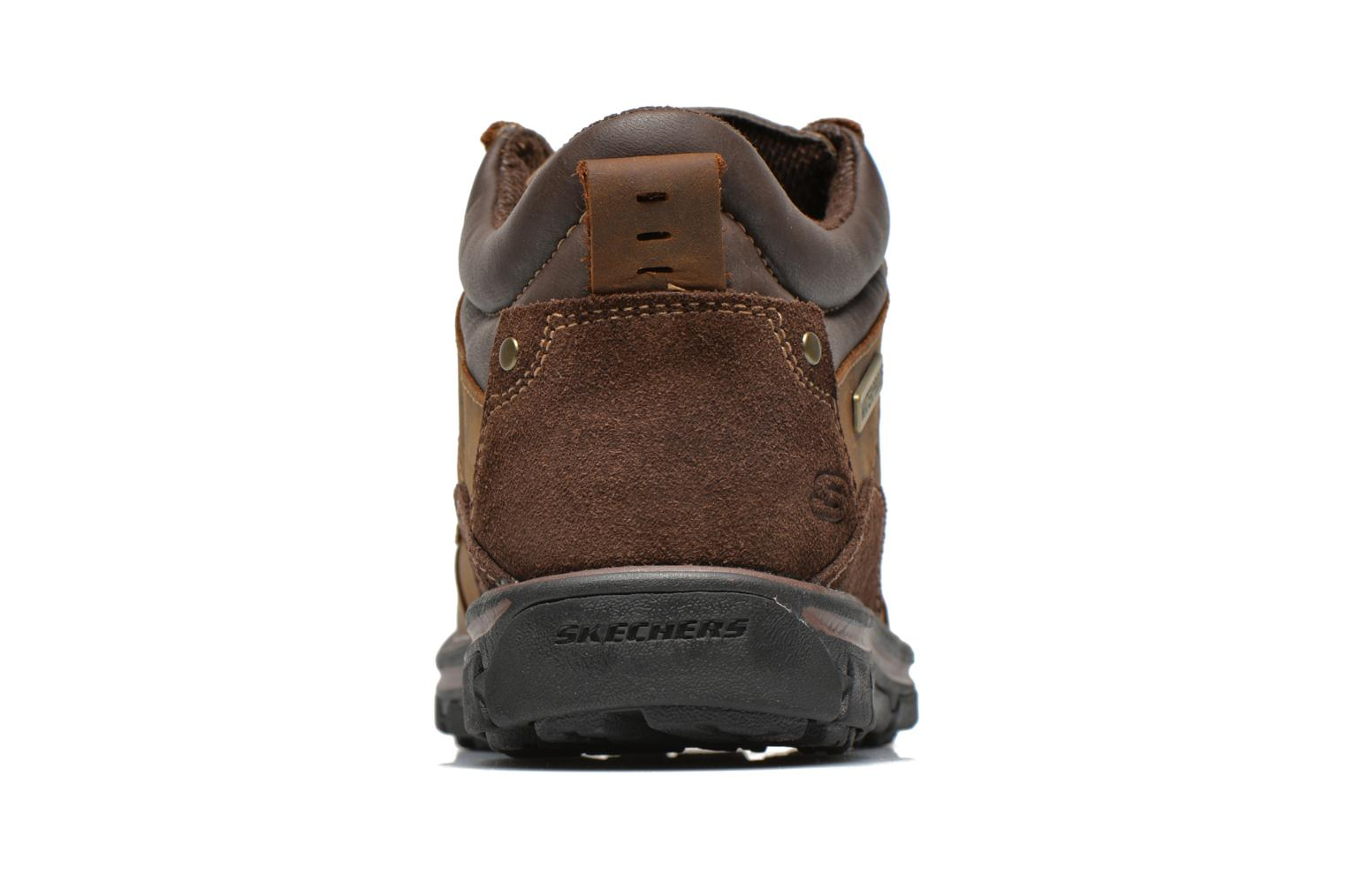Lace-up shoes Skechers Segment Melego 64522 Brown view from the right