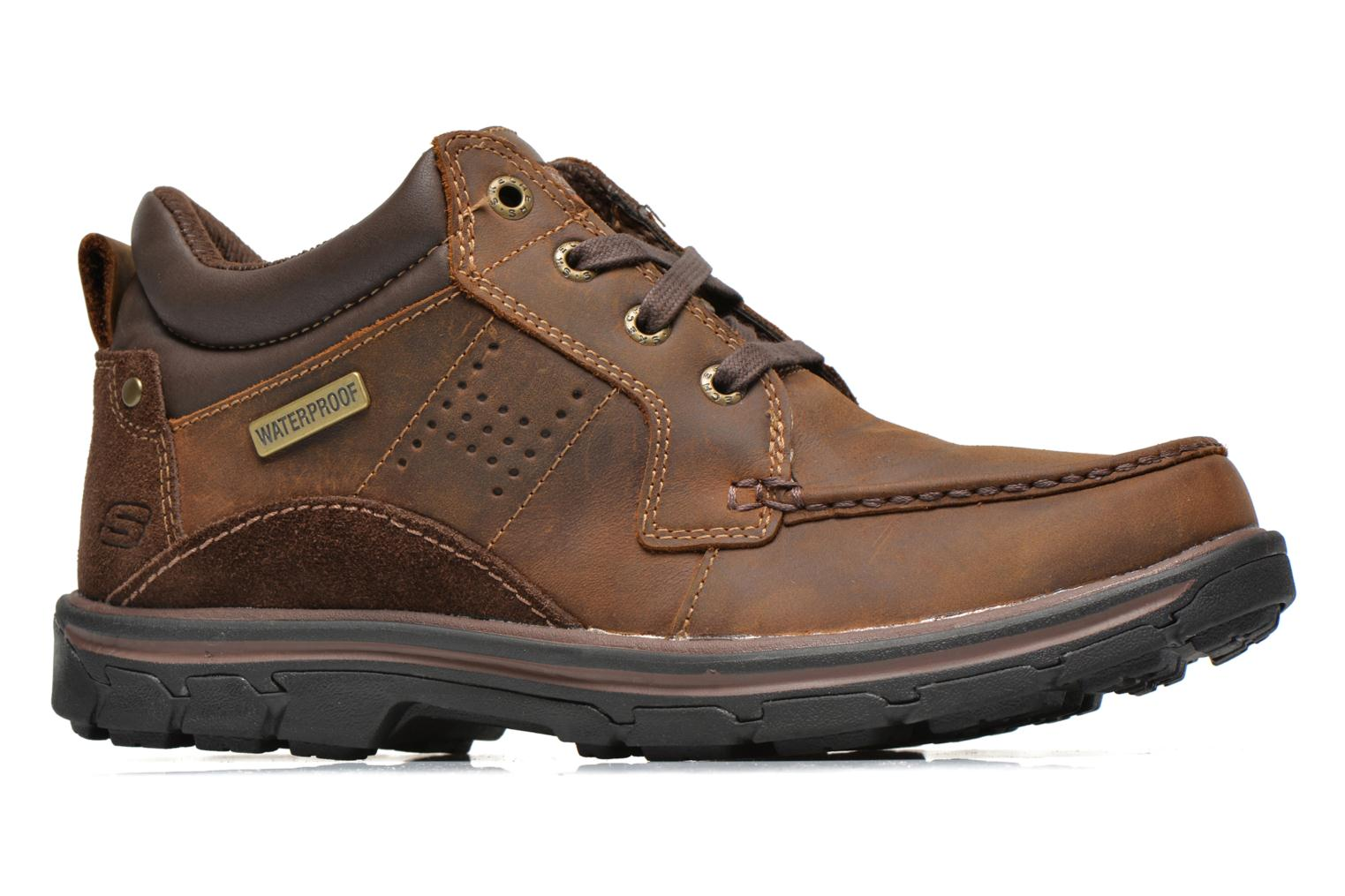 Lace-up shoes Skechers Segment Melego 64522 Brown back view