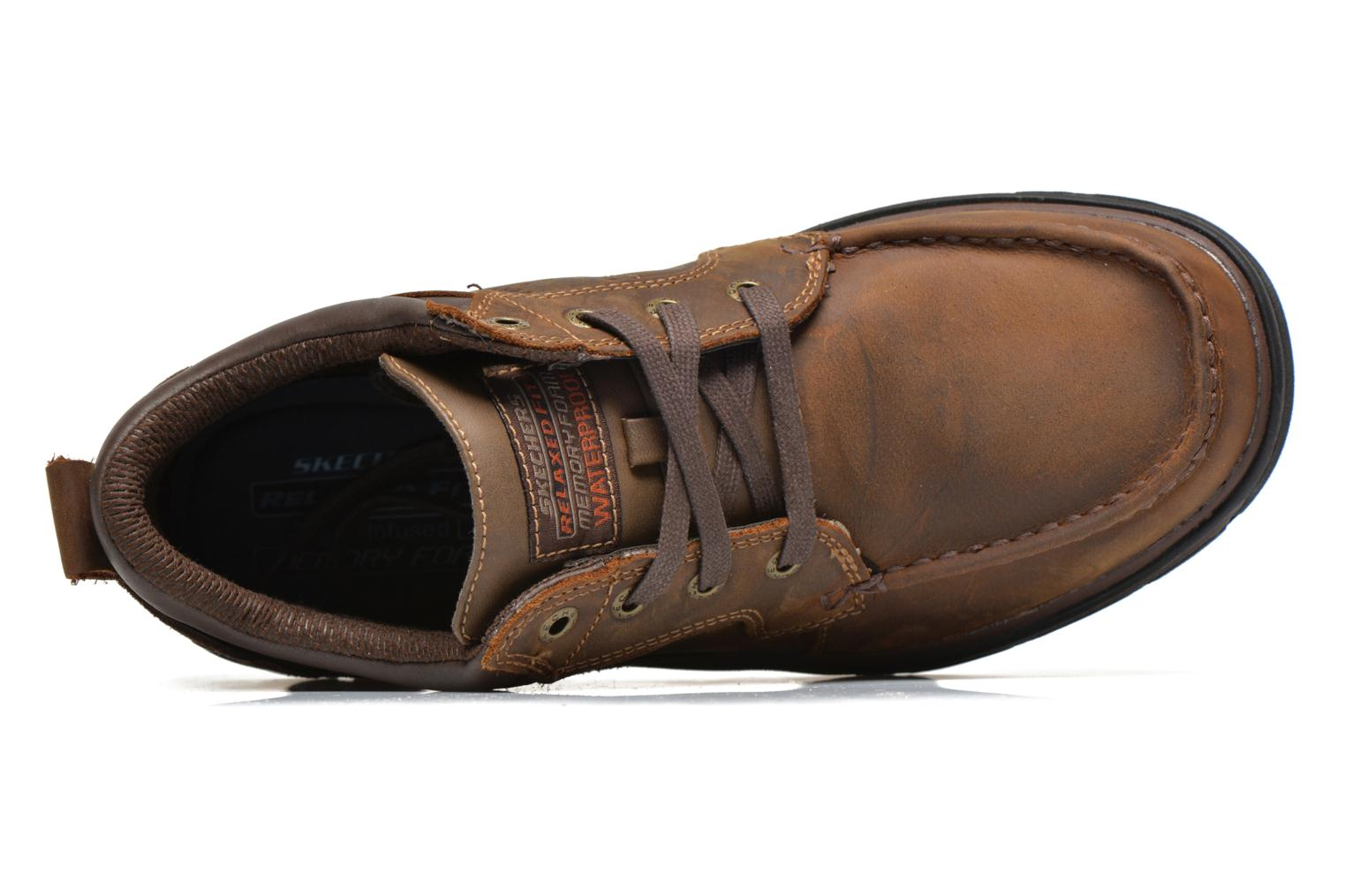 Lace-up shoes Skechers Segment Melego 64522 Brown view from the left